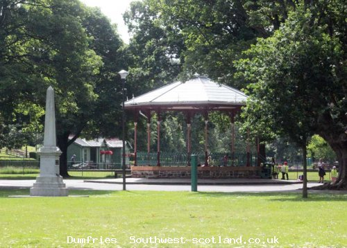 Band stand and titanic monument