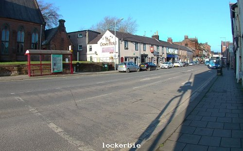 Lockerbie High street from traffic lights