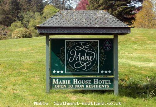 Mabie House Hotel sign