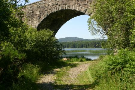 Stroan Loch Raiders Trail The Viaduct used to carry the Railway line that was meentioned in The 39 Steps