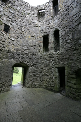 Orchardton tower Palnackie, The only round tower house in Scotland